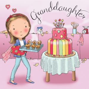 TW683 - Birthday Card For Granddaughter Cakes